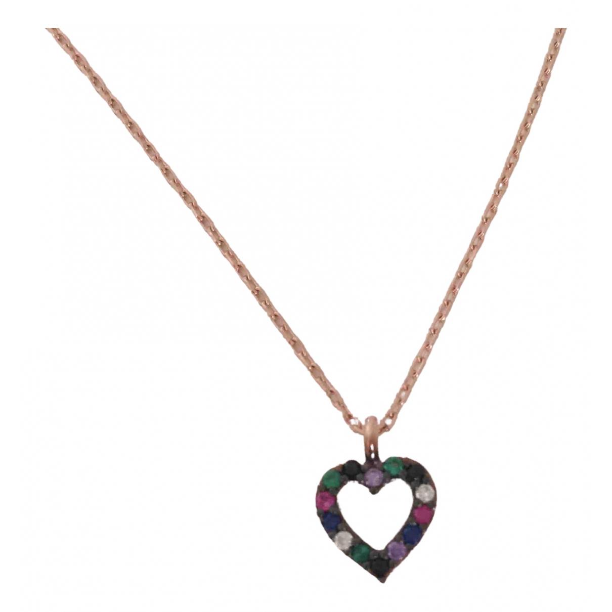 - Collier Motifs Coeurs pour femme en plaque or - rose