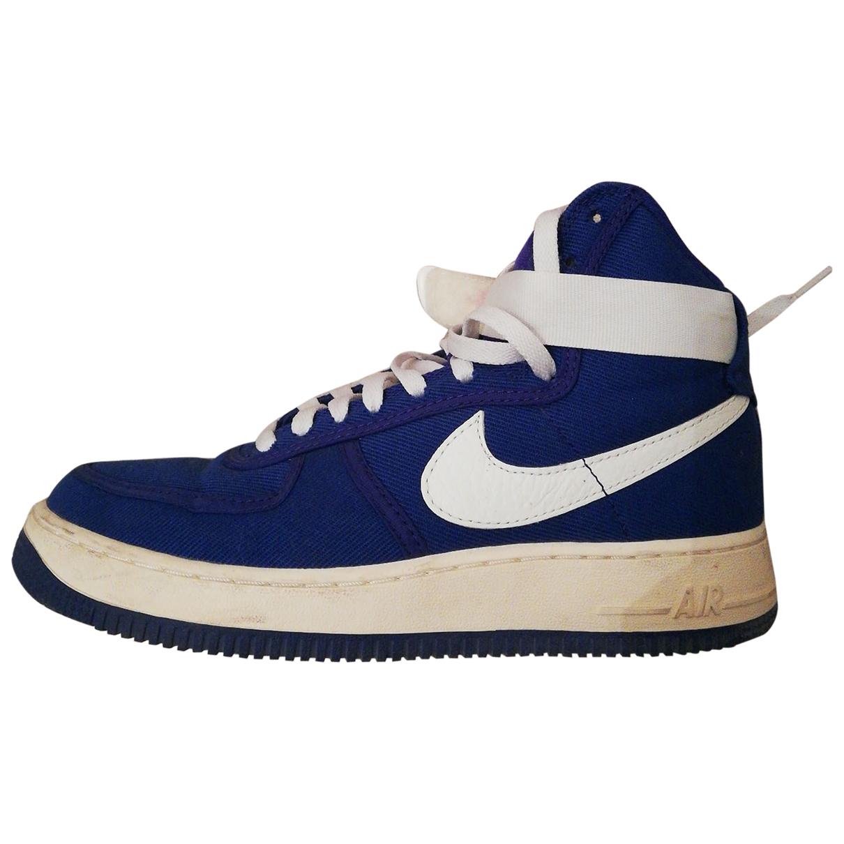 Nike - Baskets Air Force 1 pour femme en toile - bleu