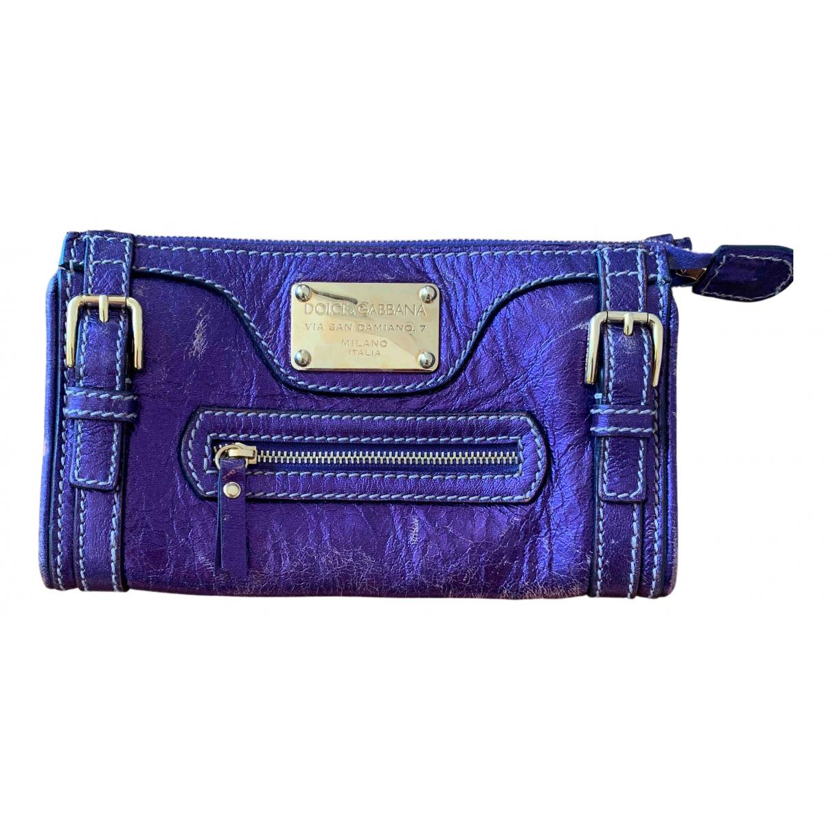 Dolce & Gabbana \N Clutch in  Blau Leder