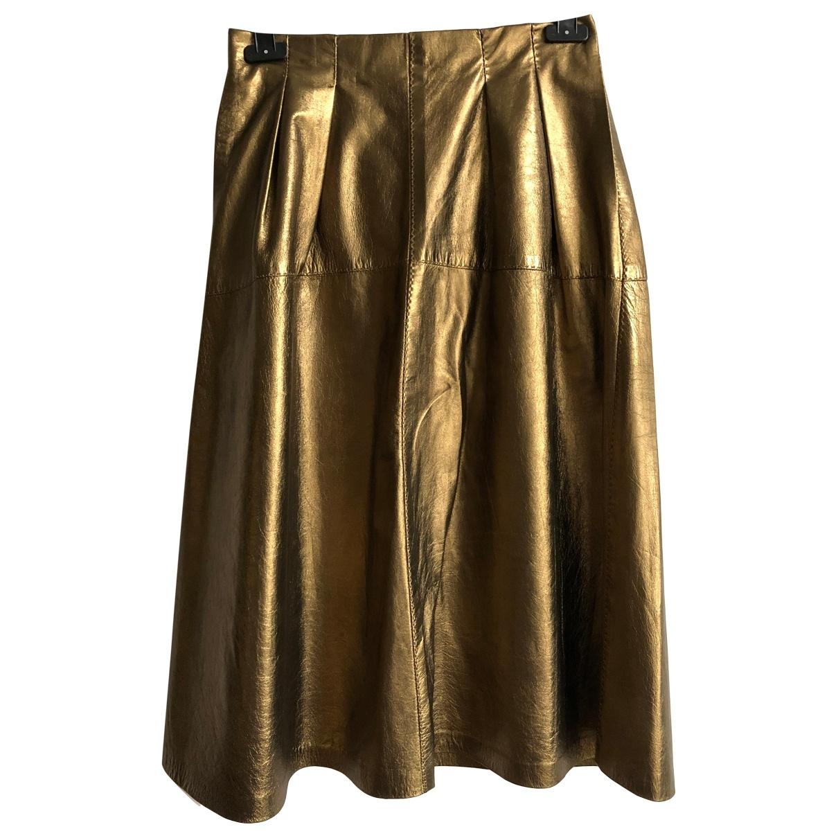 Falda midi de Cuero Ralph Lauren