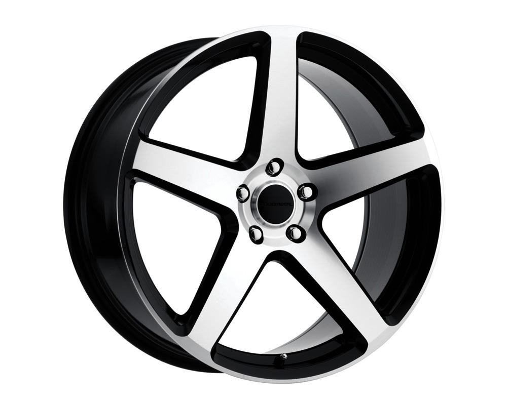 Liquid Metal 37-6790B Gen X Gloss Black Machined Face Wheel 16x7 5x100 40