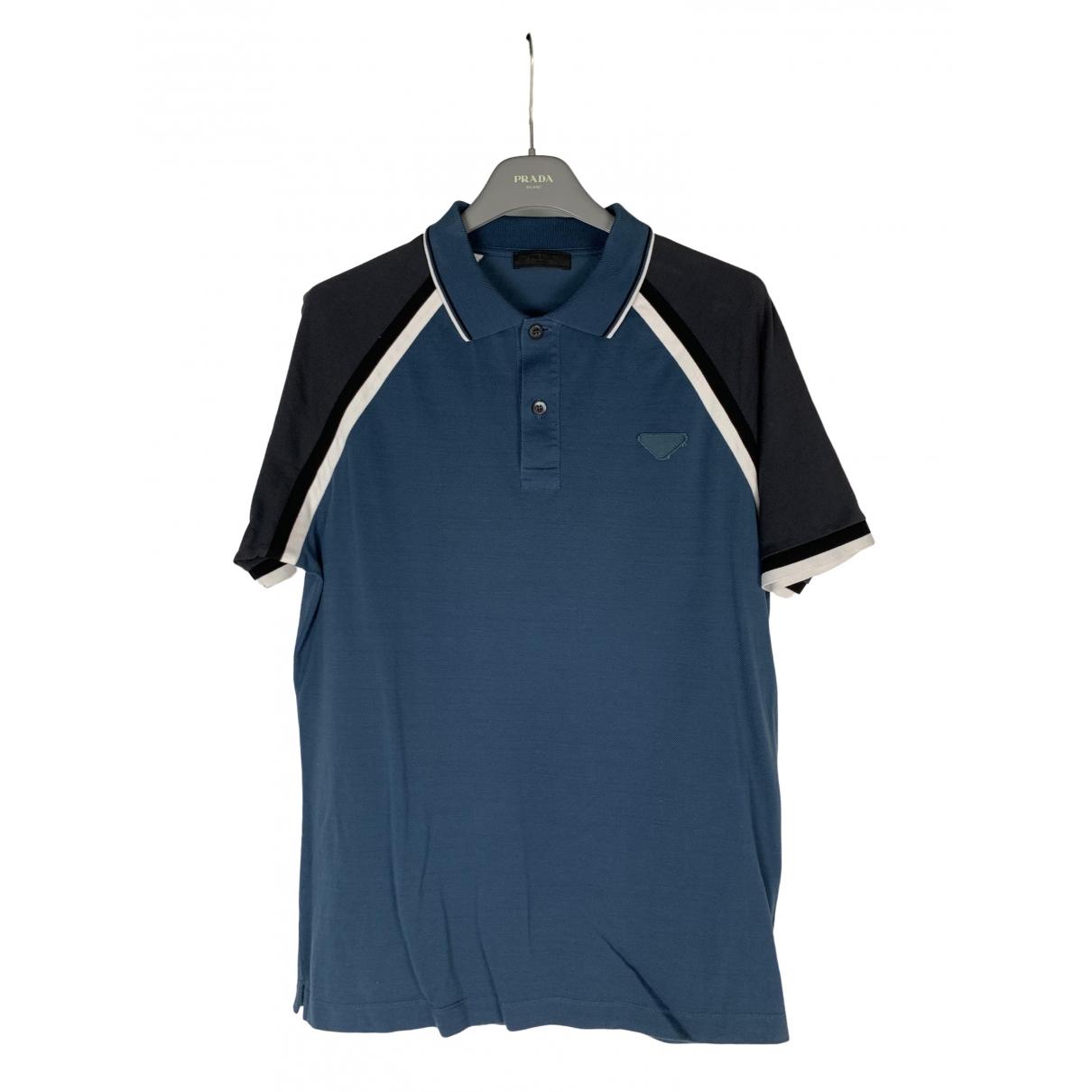 Prada \N Navy Cotton Polo shirts for Men M International