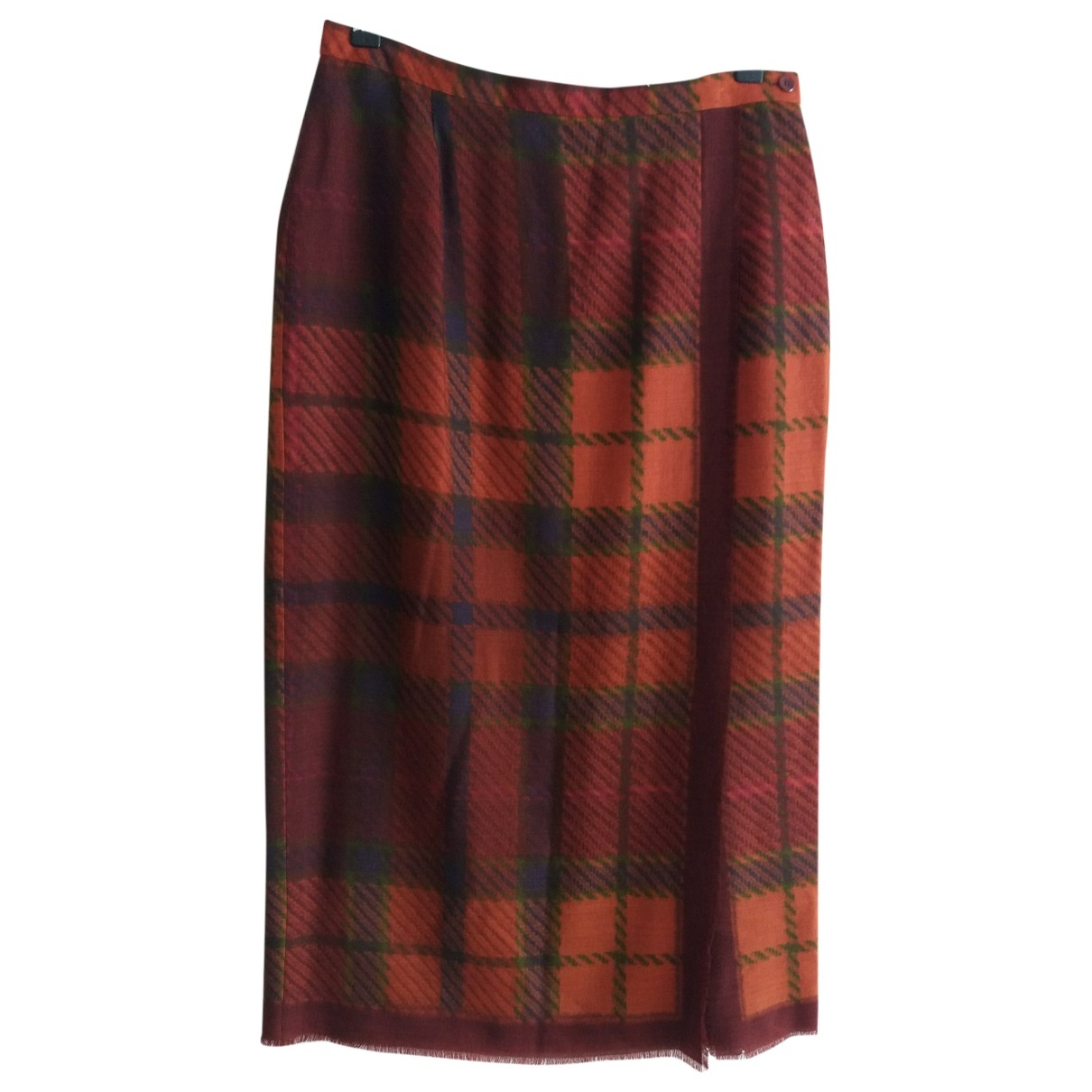 Non Signé / Unsigned \N Multicolour Wool skirt for Women 42 FR