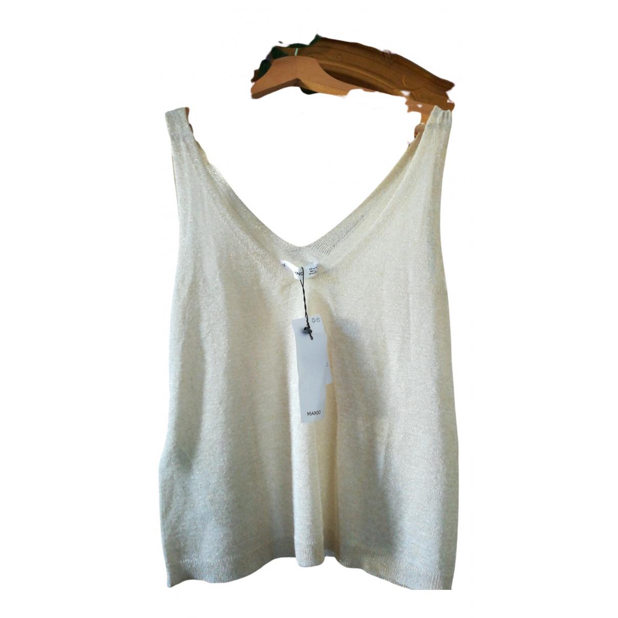 Mango - Top   pour femme en coton - beige