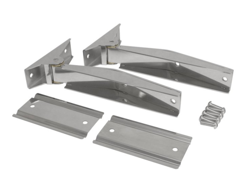 Steinjager J0053223 Tailgate (Liftgate) Repl Parts Tailgate Hinges Stainless Pair Jeep Wrangler TJ 1997-2006
