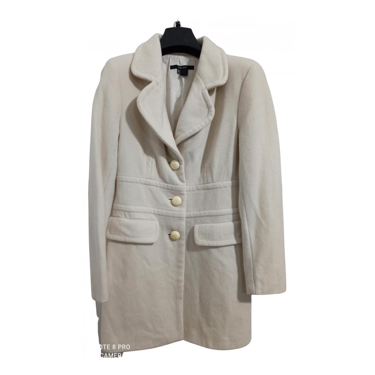 Zara - Manteau   pour femme en laine - blanc