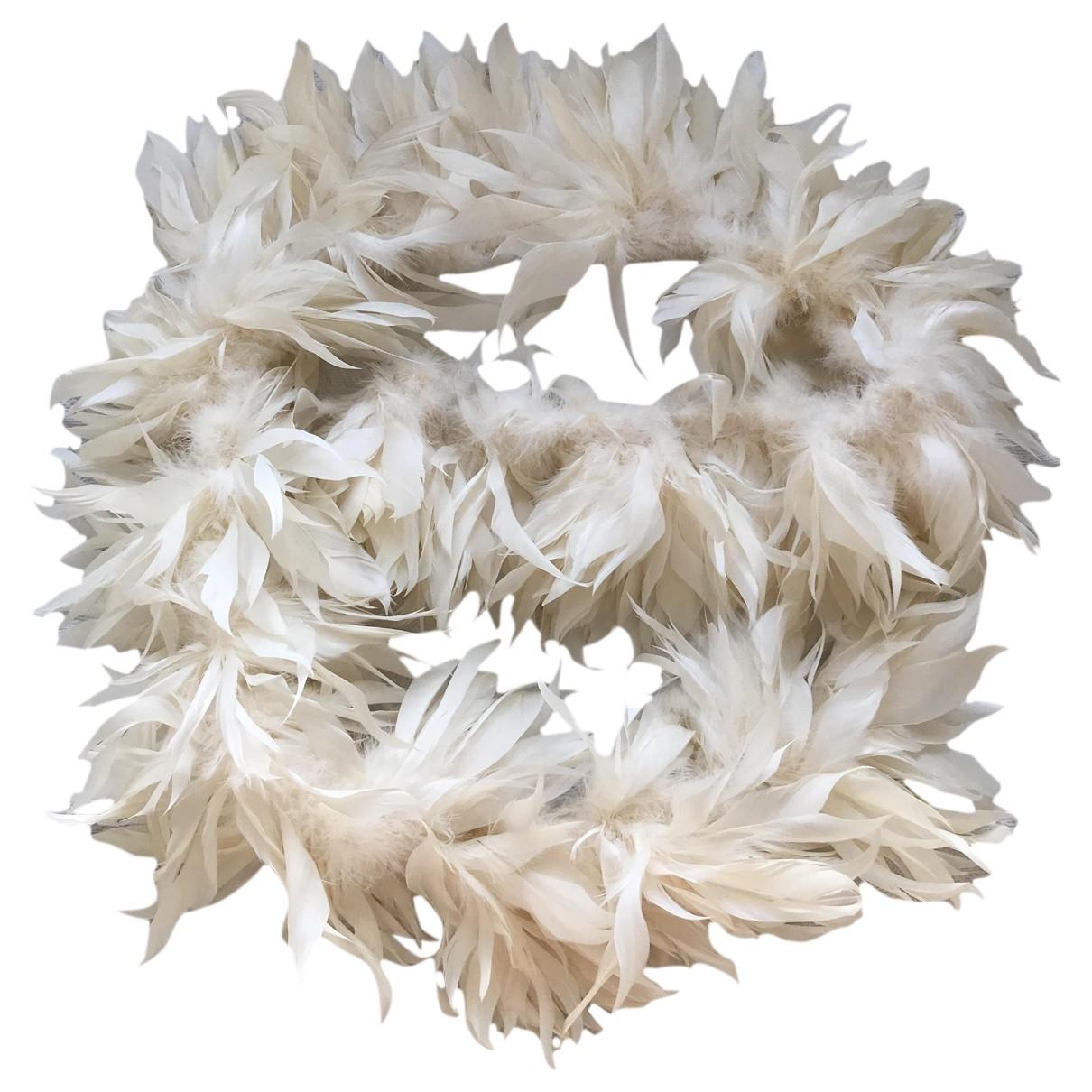 - Foulard   pour femme en fourrure - ecru
