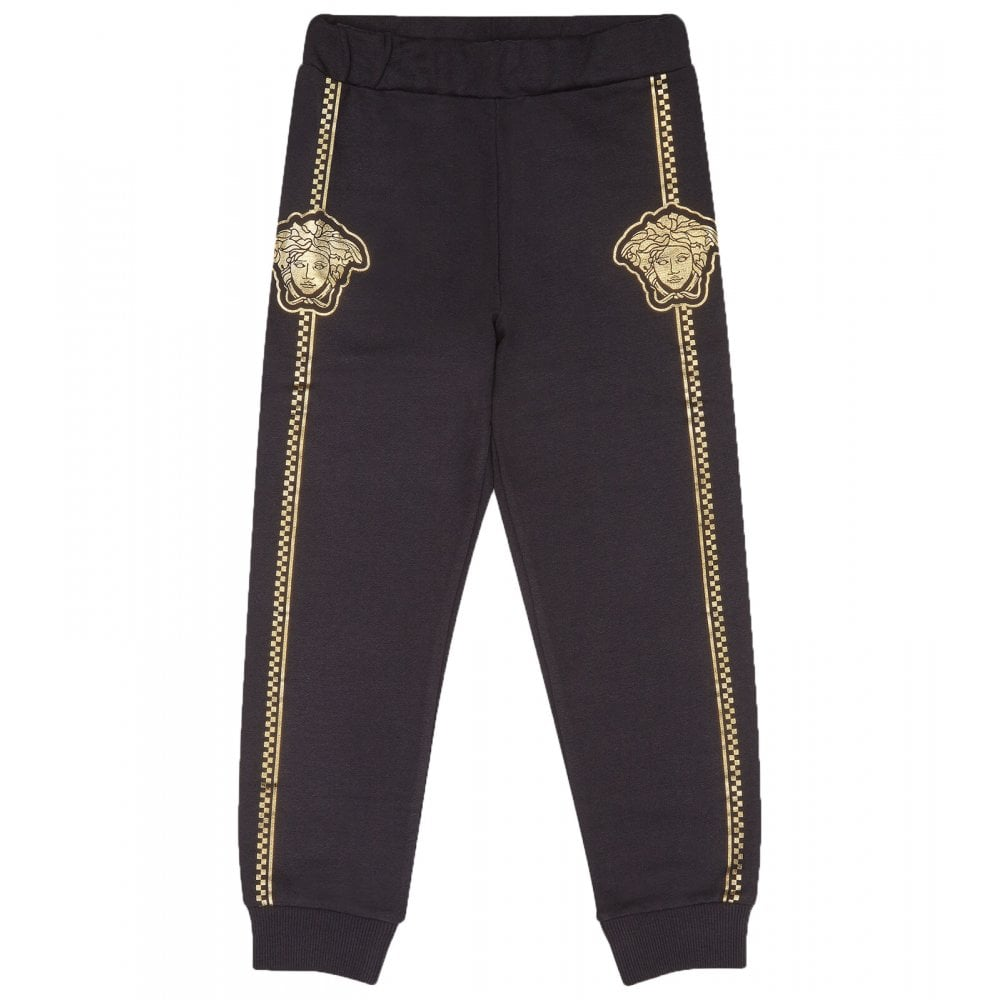 Versace Medusa Joggers Colour: BLACK, Size: 8 YEARS