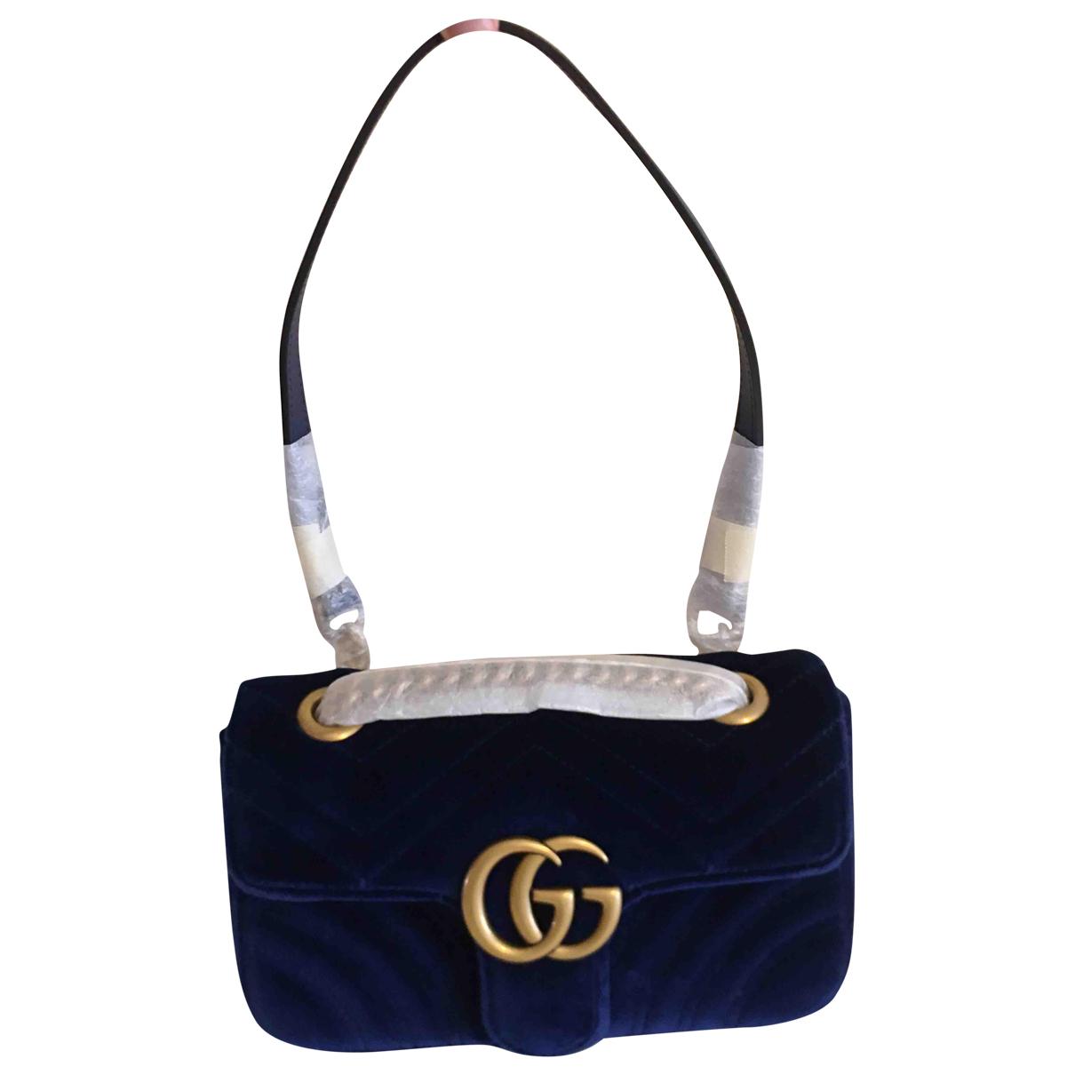 Gucci Marmont Navy Velvet handbag for Women \N
