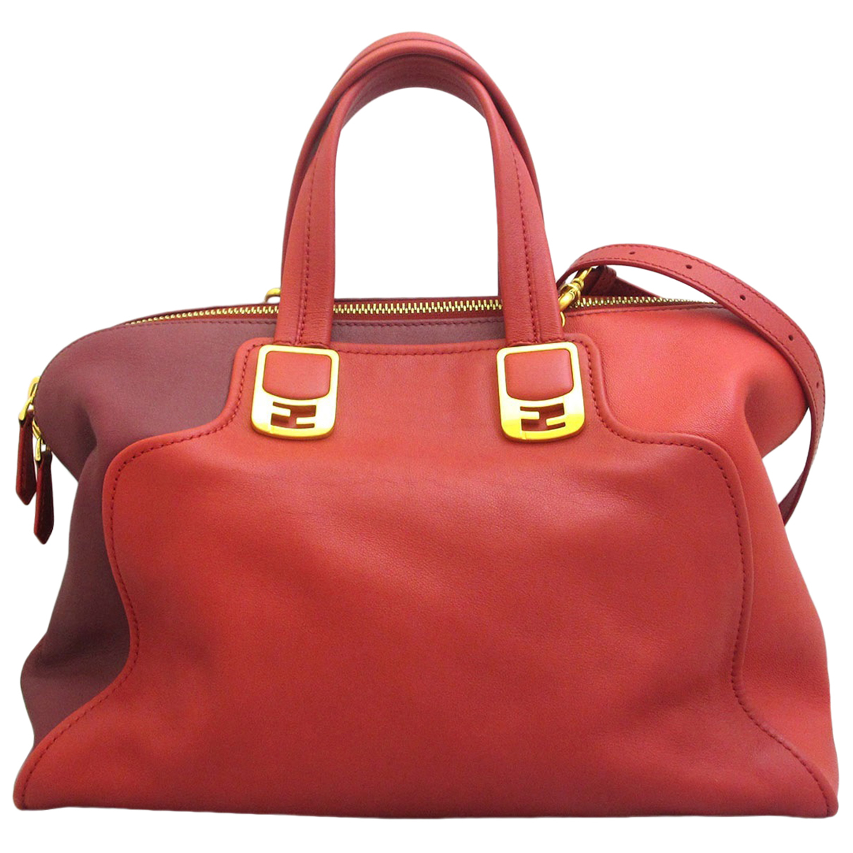 Fendi Chameleon Red Leather handbag for Women \N