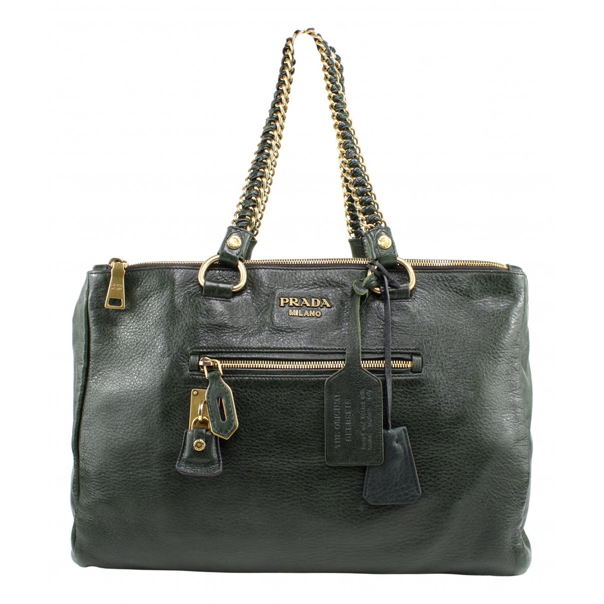 Prada N Green Leather handbag for Women N