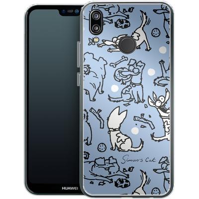 Huawei P20 Lite Silikon Handyhuelle - Happy Dogs Pattern von Simons Cat