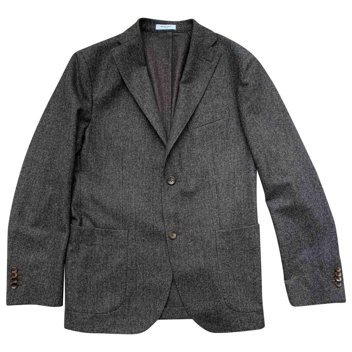 Boglioli - Vestes.Blousons   pour homme en laine - anthracite