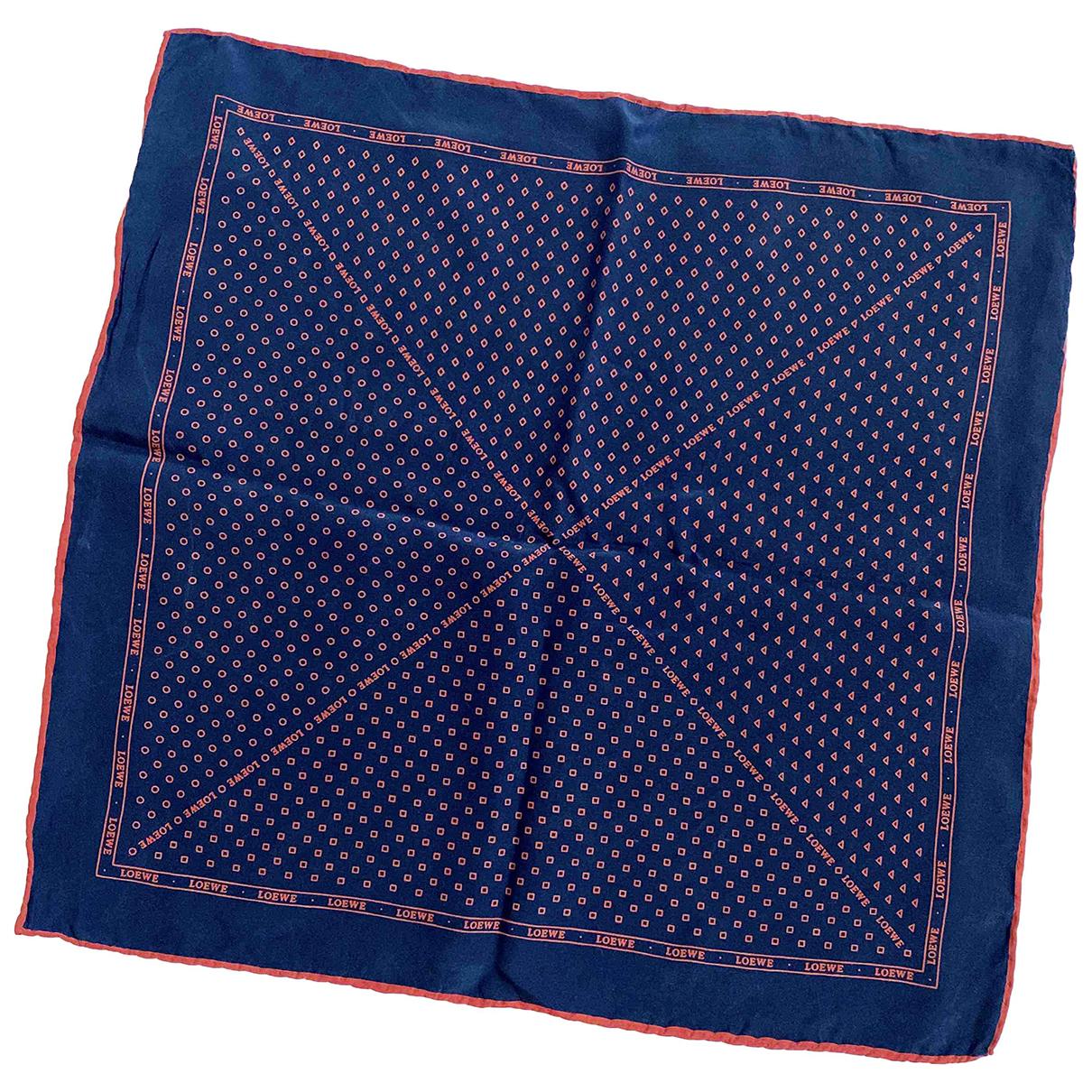 Loewe N Blue Silk scarf for Women N