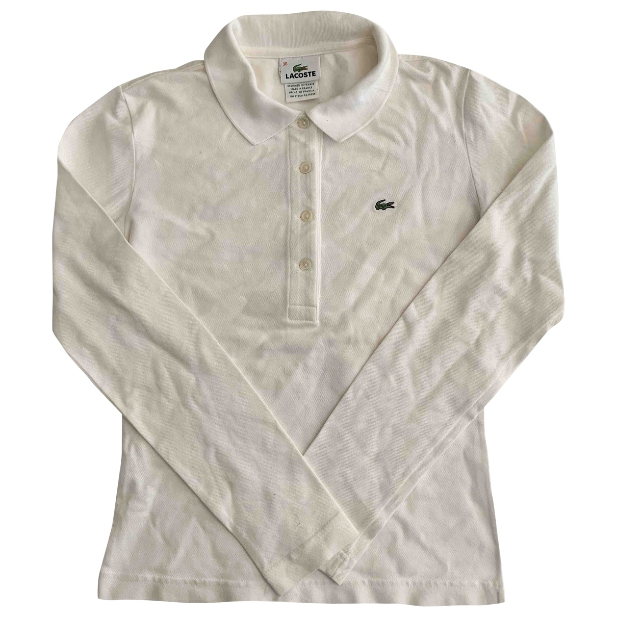 Lacoste \N White Cotton  top for Women 36 FR