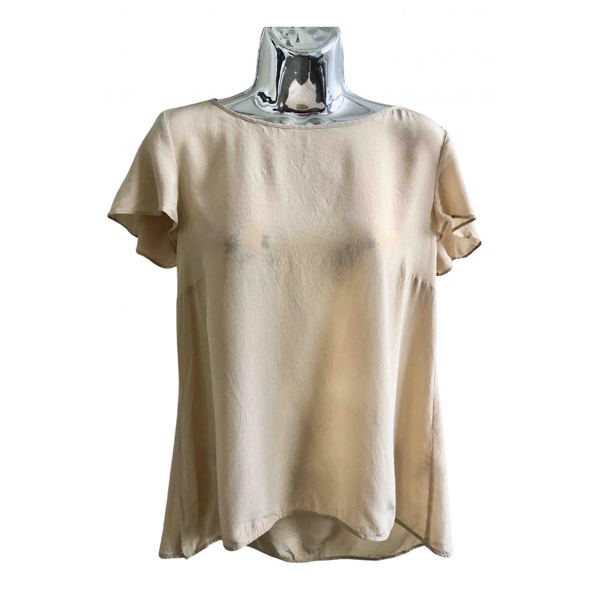 Patrizia Pepe N Beige Silk  top for Women 42 IT