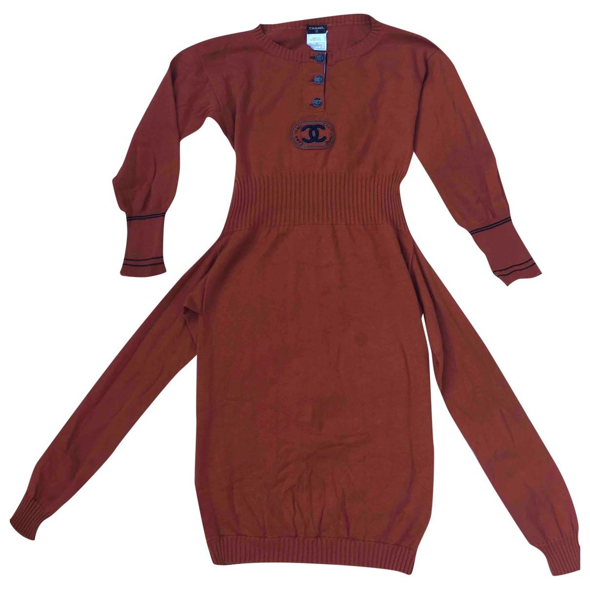 Chanel \N Kleid in  Orange Kaschmir