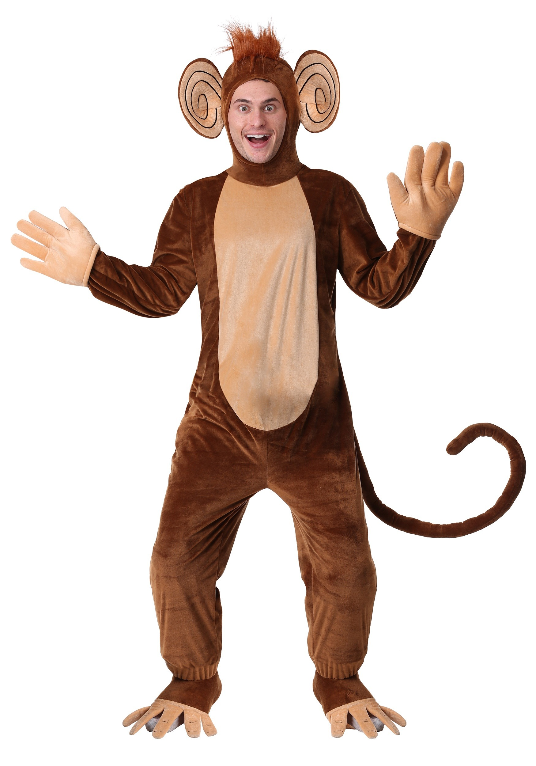 Adult Plus Size Funky Monkey Costume 2X