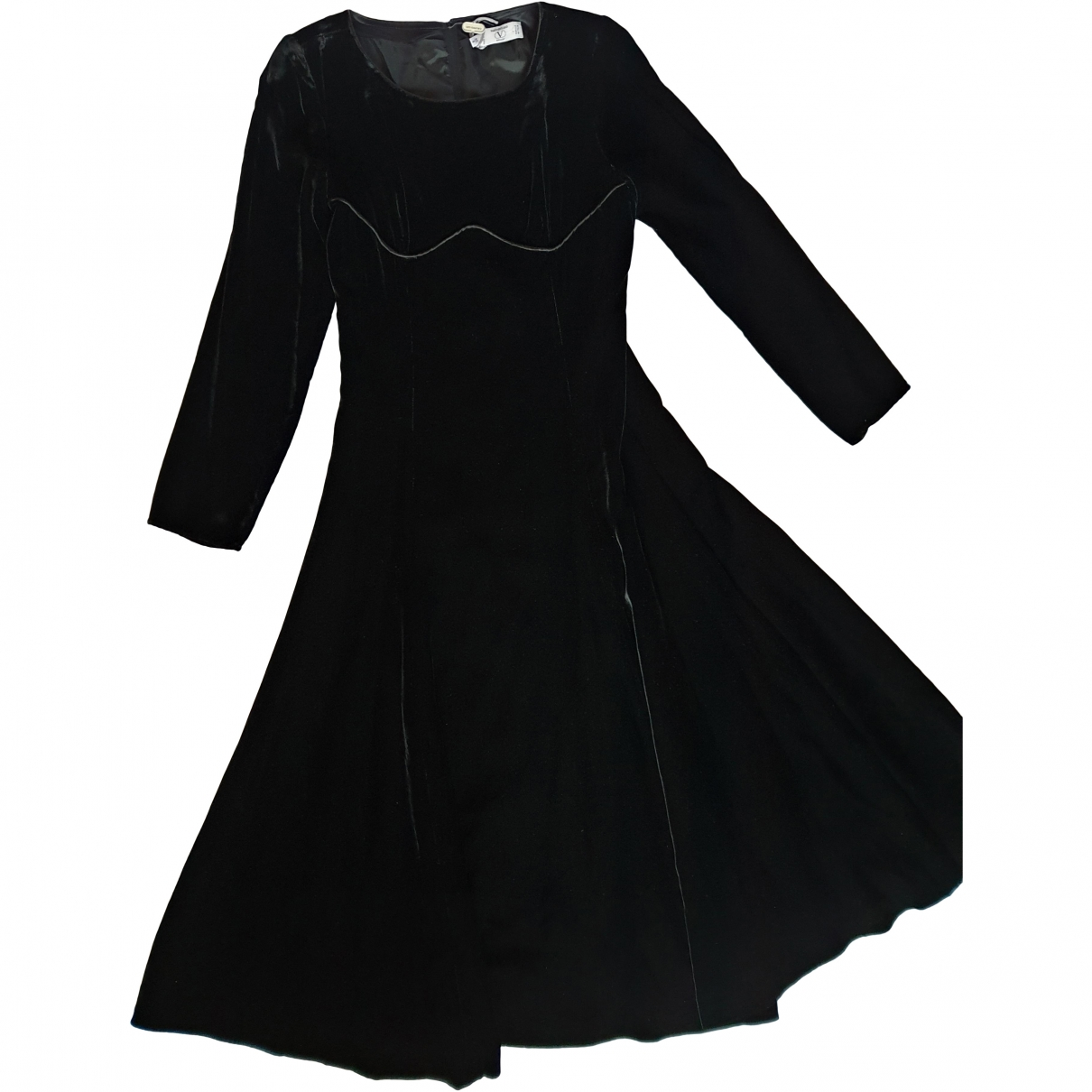 Valentino Garavani \N Black Velvet dress for Women 40 FR
