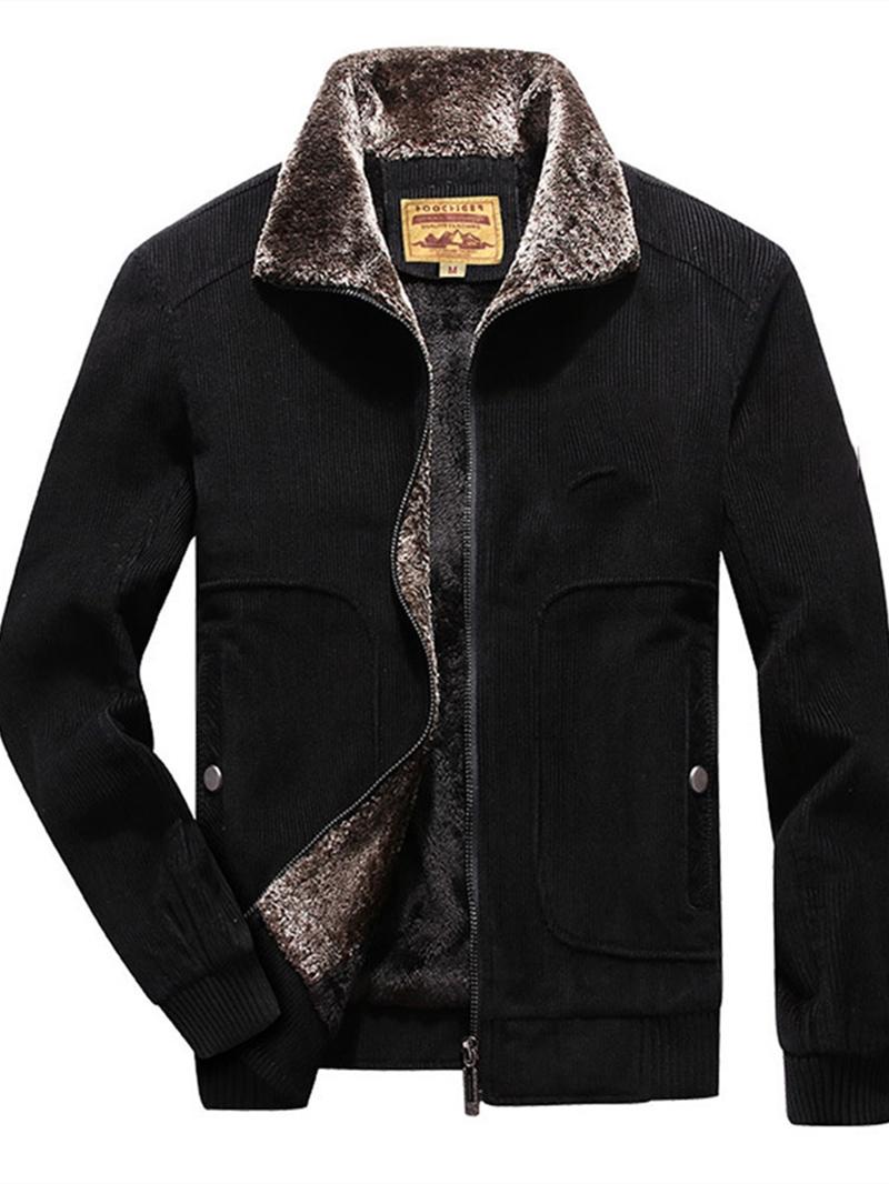 Ericdress Color Block Zipper Lapel Loose Men's Jacket