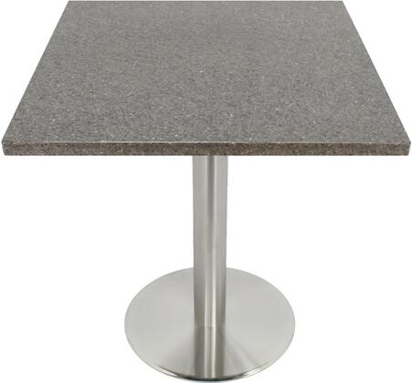 Q405 36X36-SS14-23H 36x36 Storm Gray Quartz Tabletop with 23