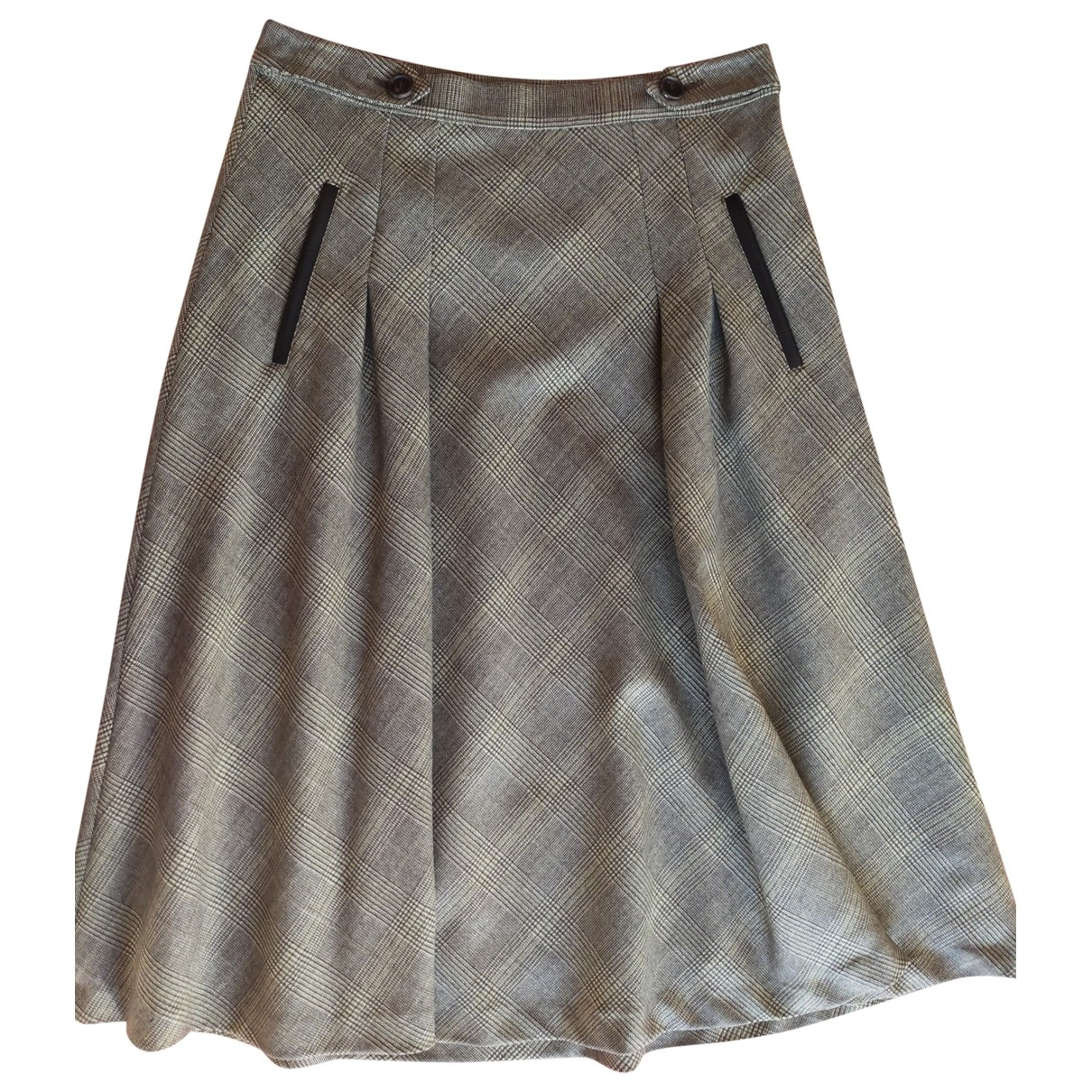 Etro \N Grey Wool skirt for Women 42 IT