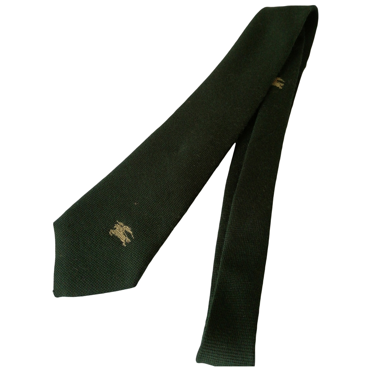 Burberry \N Green Cashmere Ties for Men \N