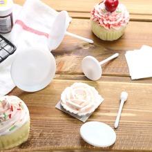 4 piezas estante de flor de crema de pastel