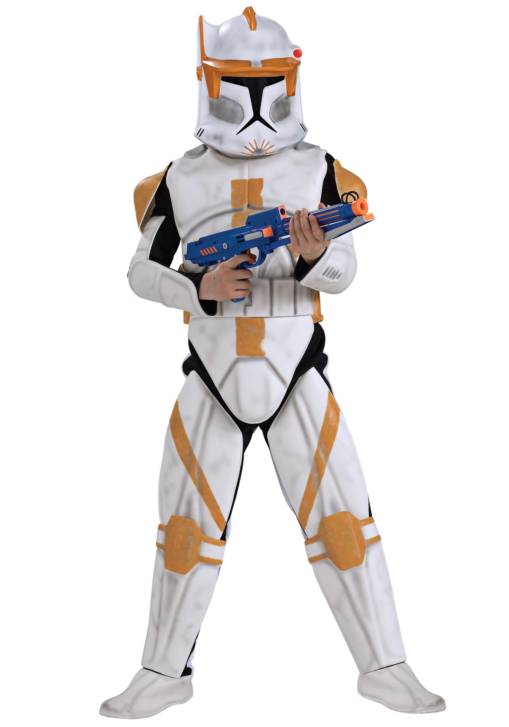 Boys Deluxe Clone Trooper Commander Cody Costume