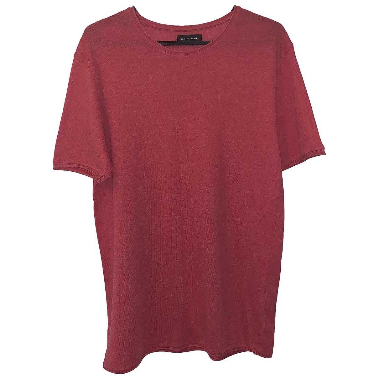 Zara - Tee shirts   pour homme en coton - rouge