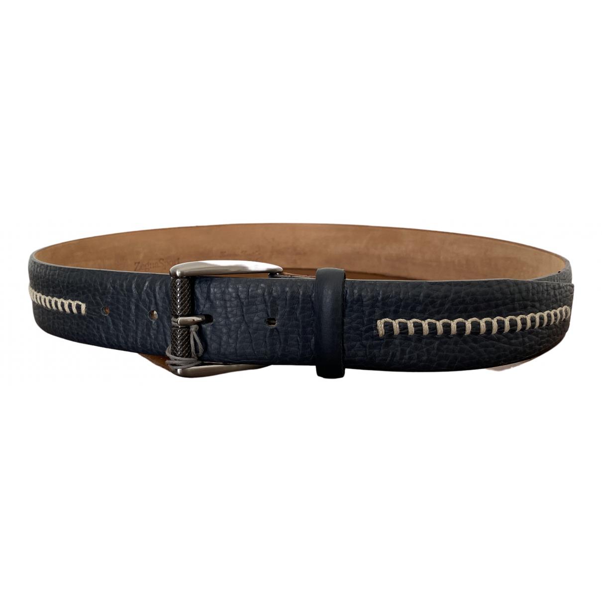 Ermenegildo Zegna N Blue Leather belt for Men 80 cm