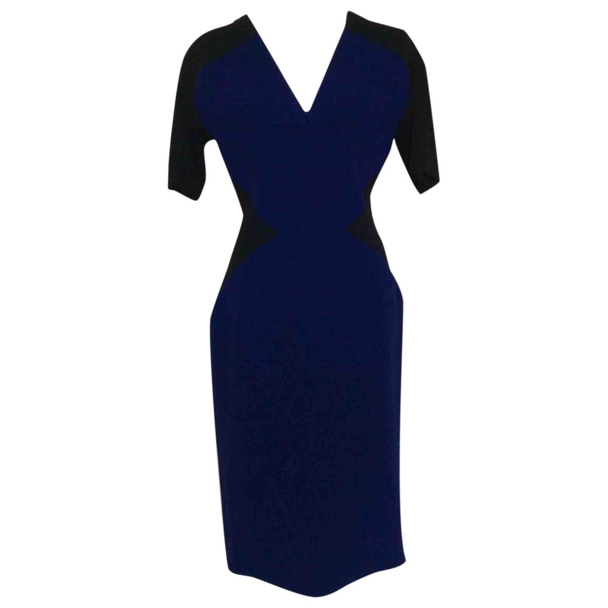 Roland Mouret \N Blue Wool dress for Women 10 US