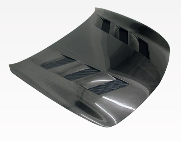 VIS Racing 09ING374DAMS-010C AMS Style Black Carbon Fiber Hood Infiniti G37 09-13