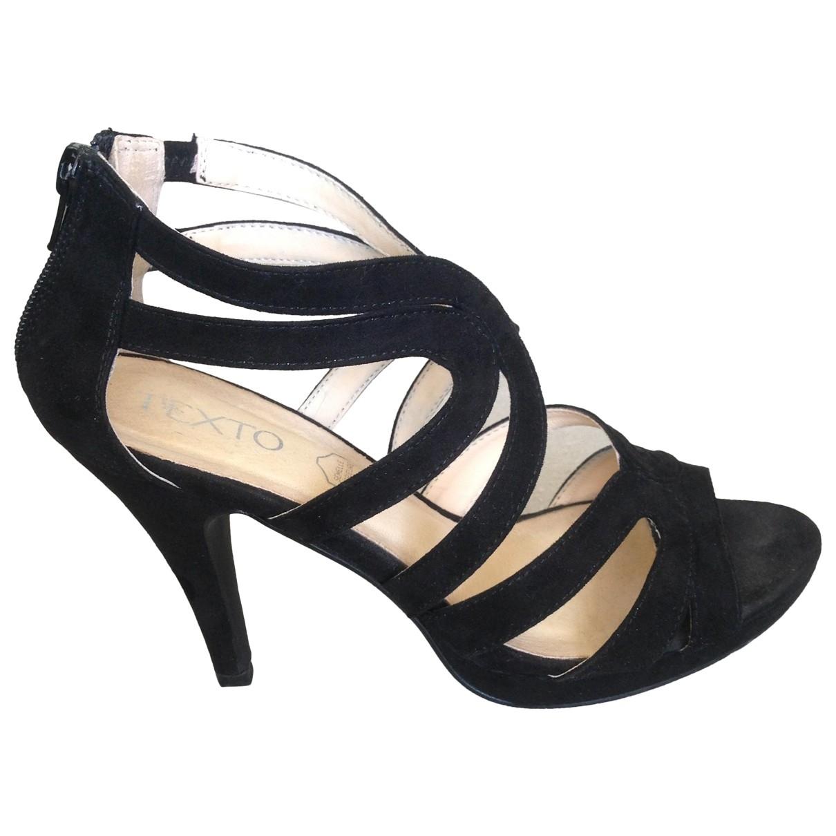 Non Signé / Unsigned \N Black Velvet Sandals for Women 37 EU