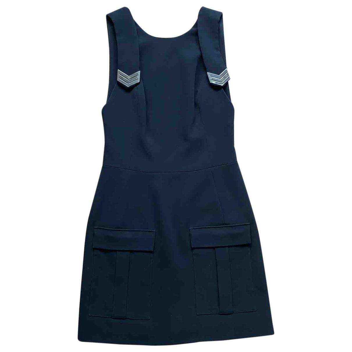 Mugler \N Kleid in  Schwarz Viskose