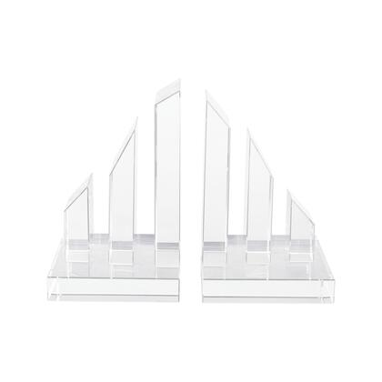 2225-010/S2 Degrees Crystal Bookends  In