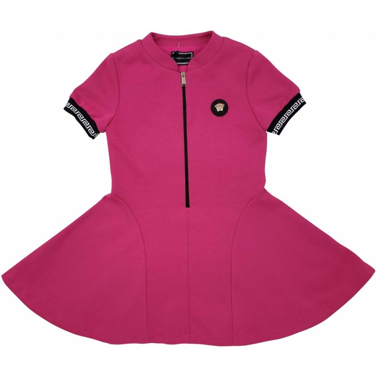 Versace - Robe    pour enfant en coton - rose