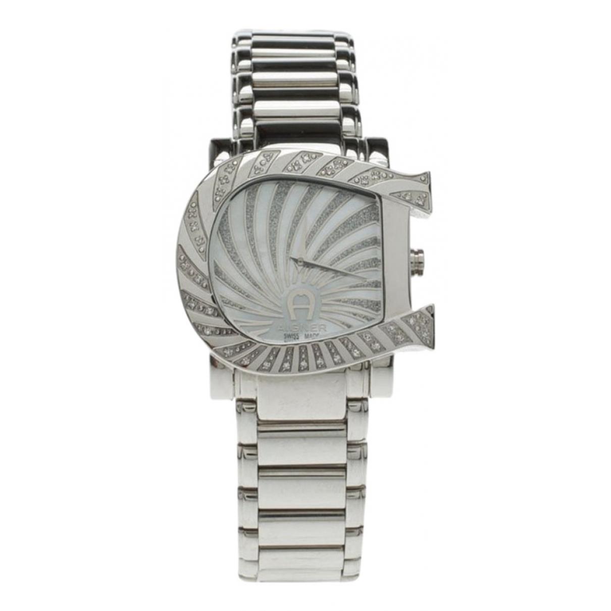 Aigner \N Silver Steel watch for Women \N