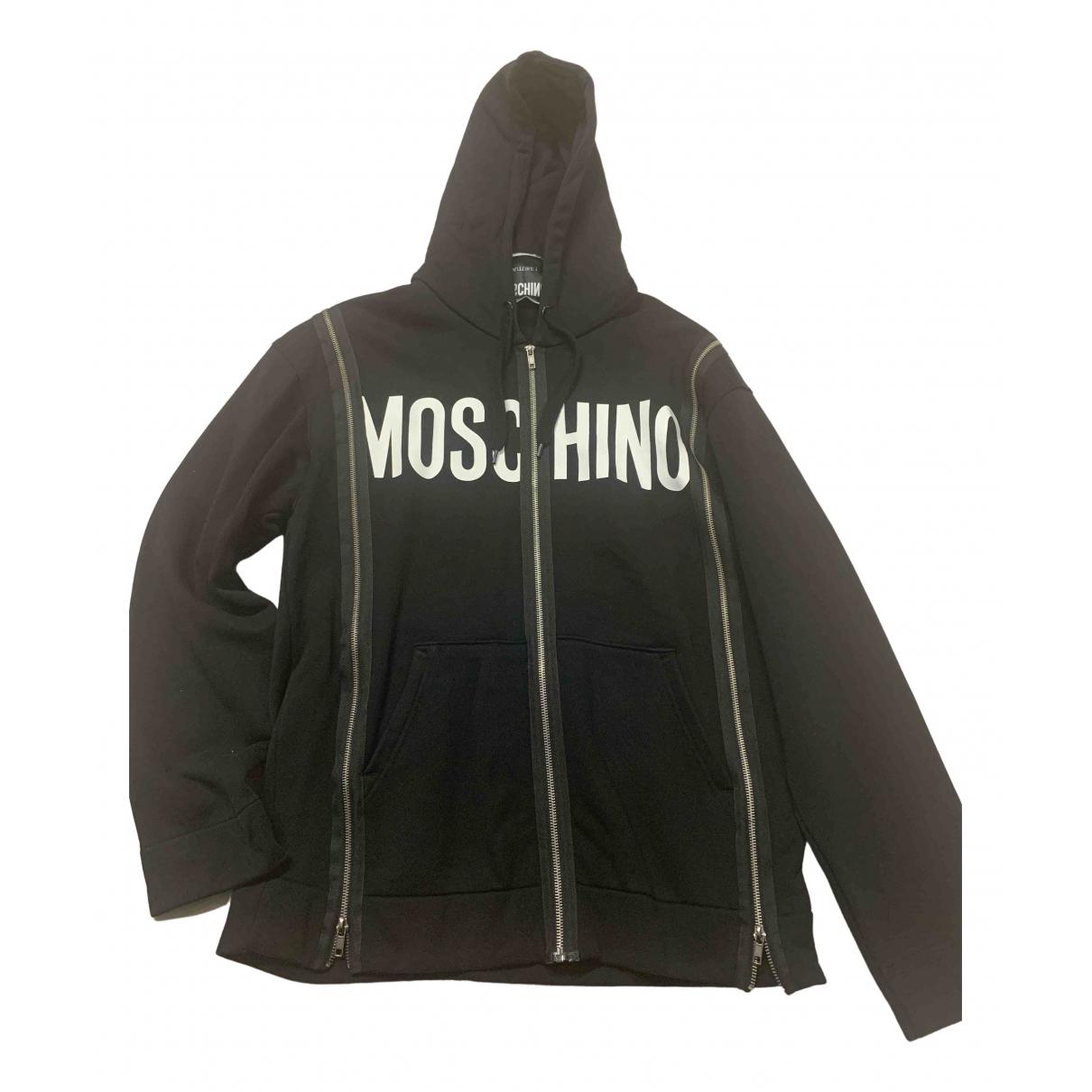 Moschino - Pulls.Gilets.Sweats   pour homme en coton - noir