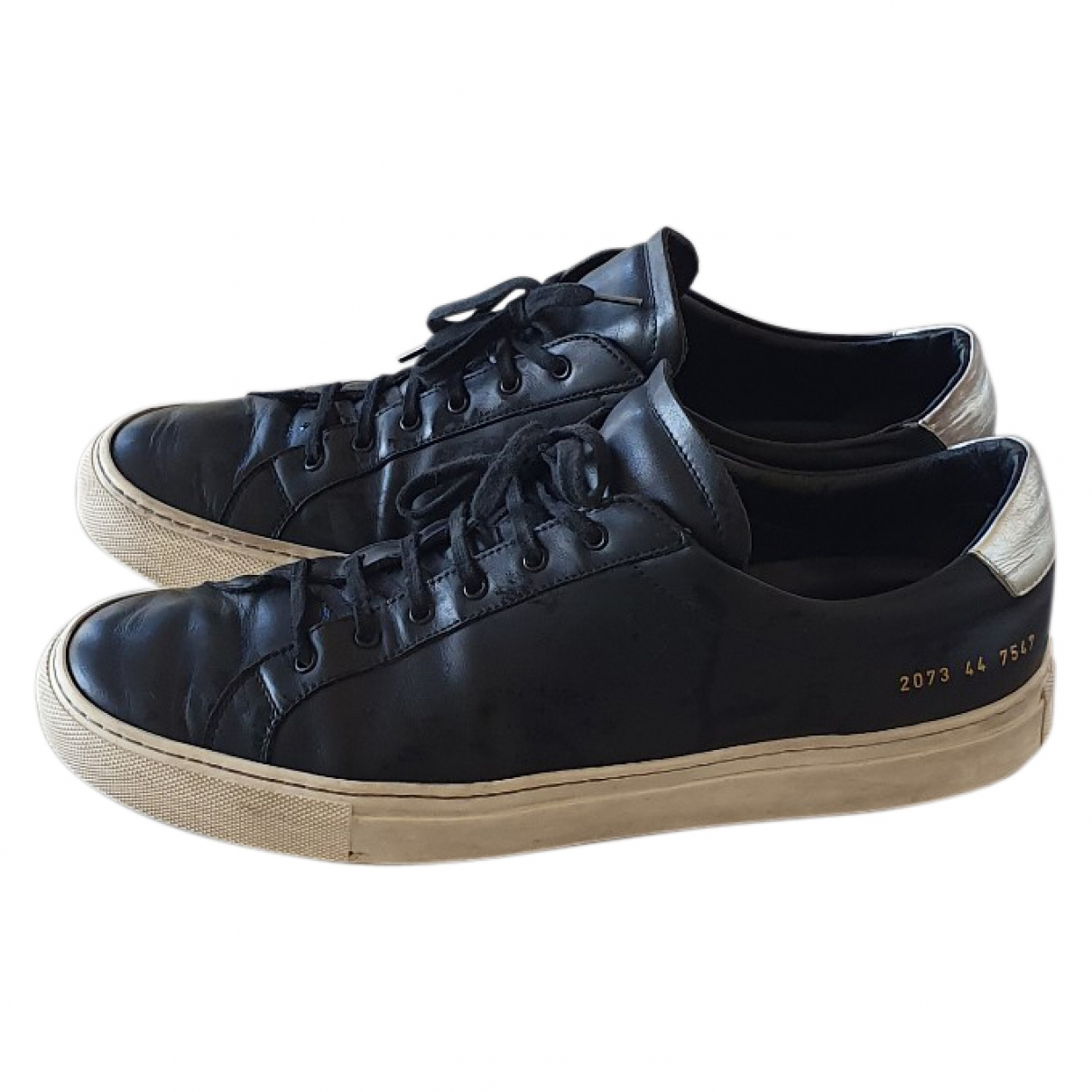 Common Projects \N Black Leather Trainers for Men 44 EU