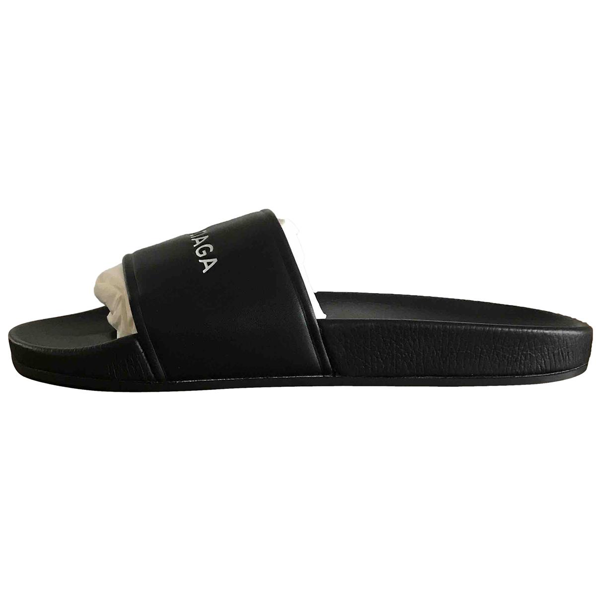 Balenciaga - Sandales   pour homme en cuir - noir