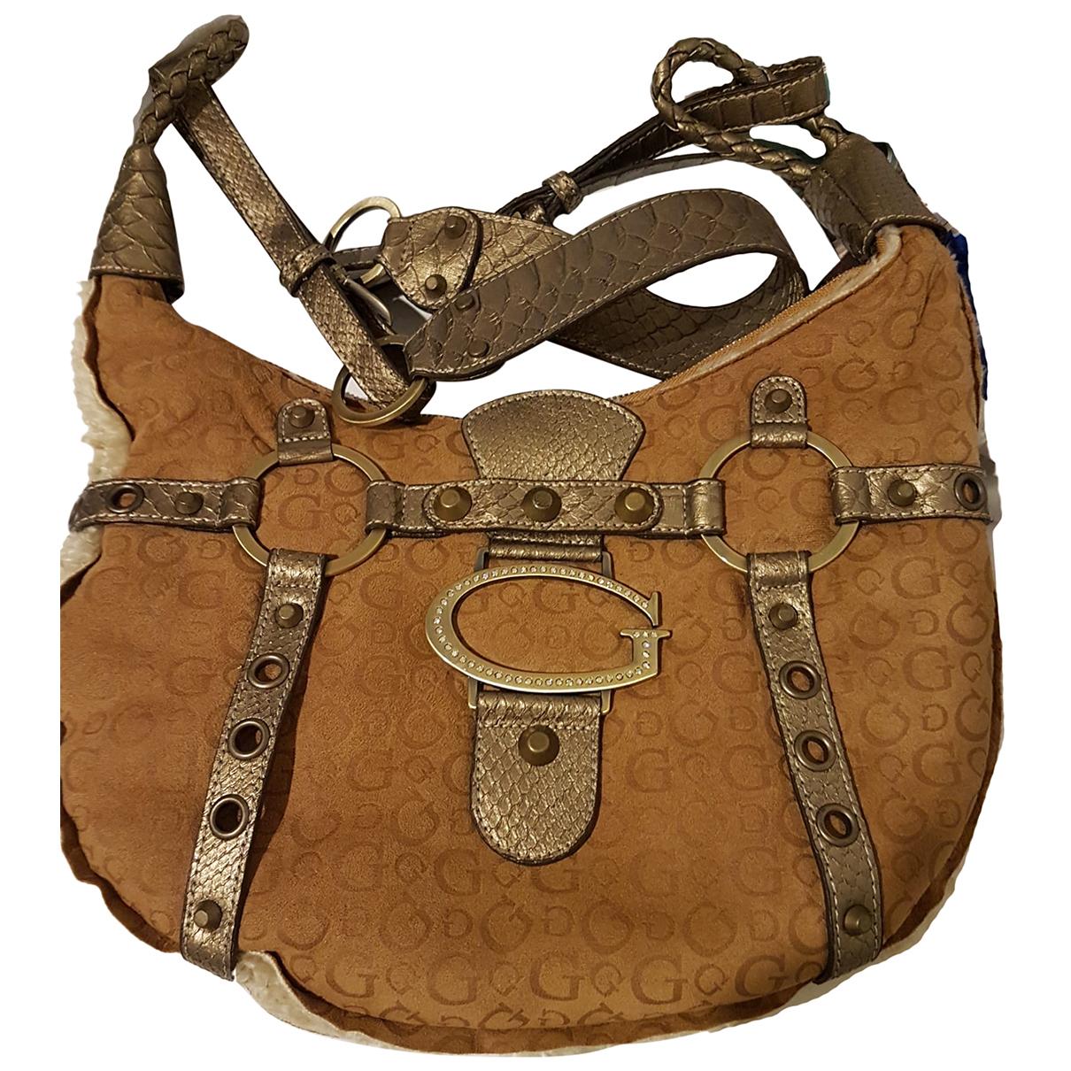 Guess \N Beige Suede handbag for Women \N