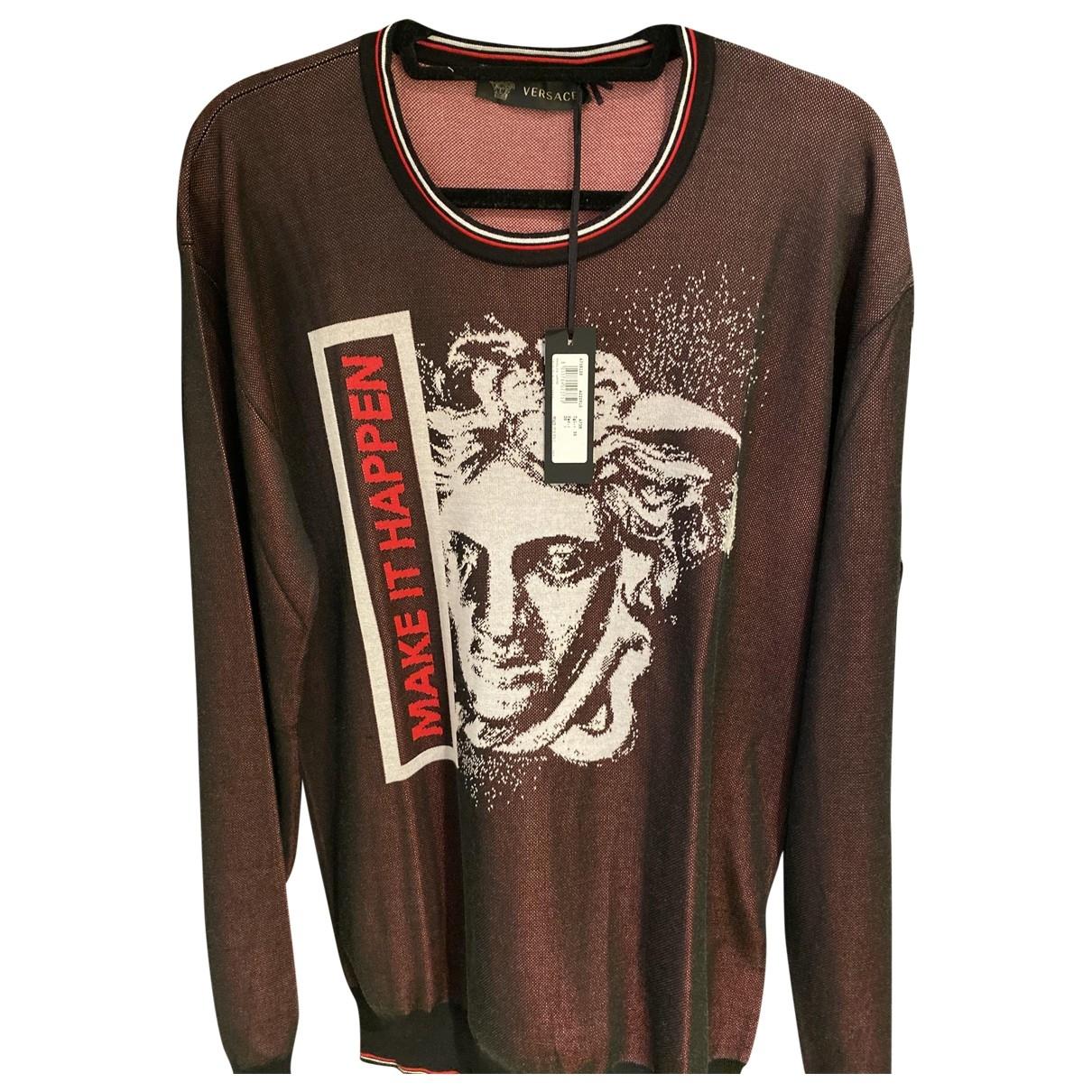 Versace \N Pullover.Westen.Sweatshirts  in  Rot Wolle