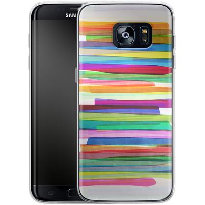 Samsung Galaxy S7 Edge Silikon Handyhuelle - Colorful Stripes 1 von Mareike Bohmer