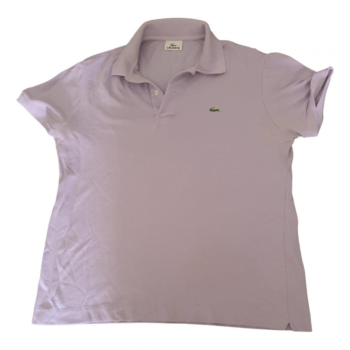 Lacoste - Polos   pour homme en coton - violet