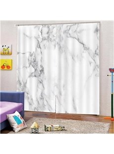 Nordic Ins Style Marbling 3D Digital Print Blackout Decorative Curtains for Living Room Bedroom