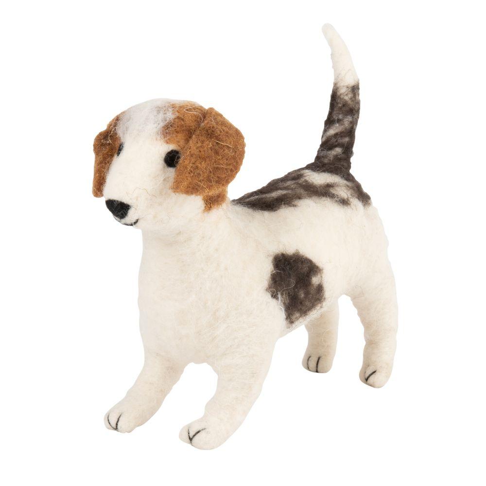 Hundefigur aus Wolle H10