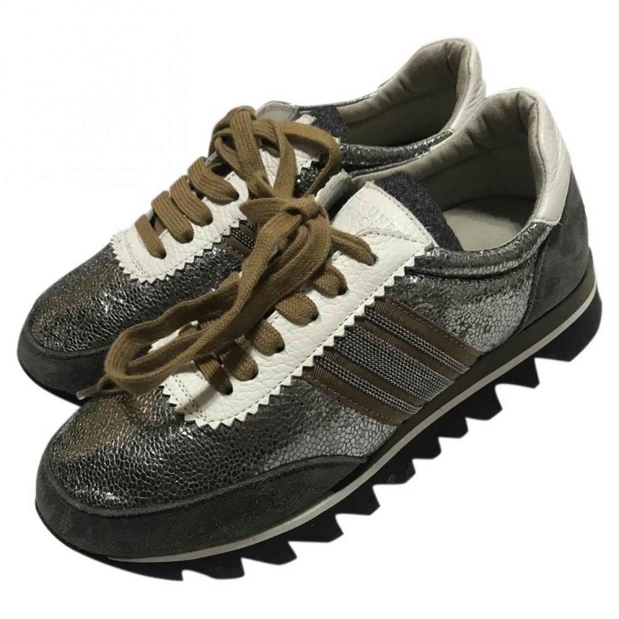 Brunello Cucinelli \N Sneakers in  Grau Leinen
