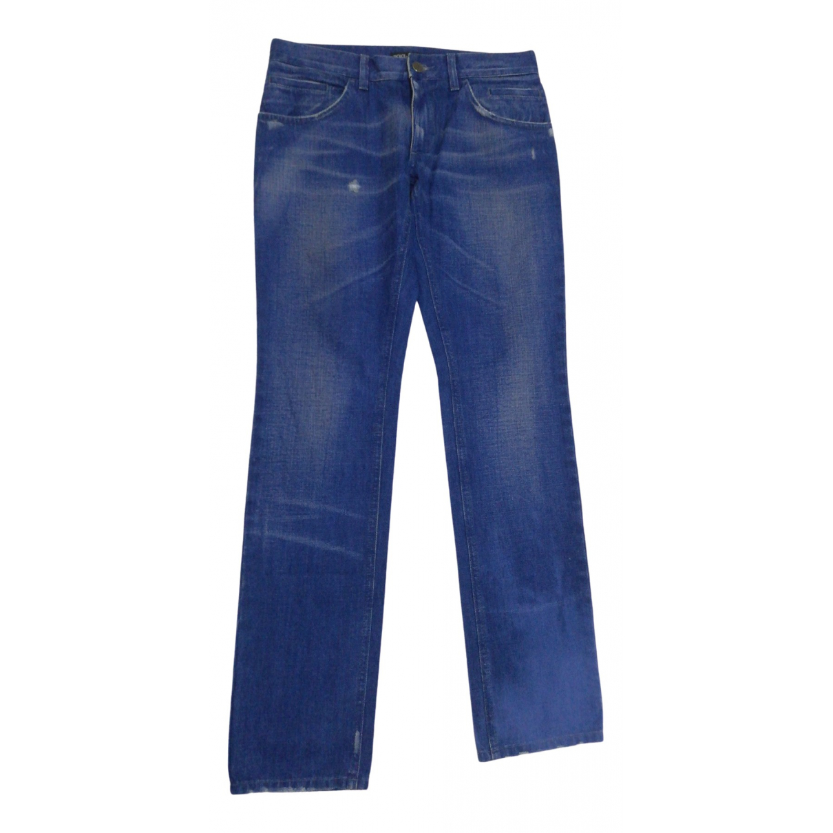 Dolce & Gabbana \N Blue Cotton - elasthane Jeans for Men 30 US