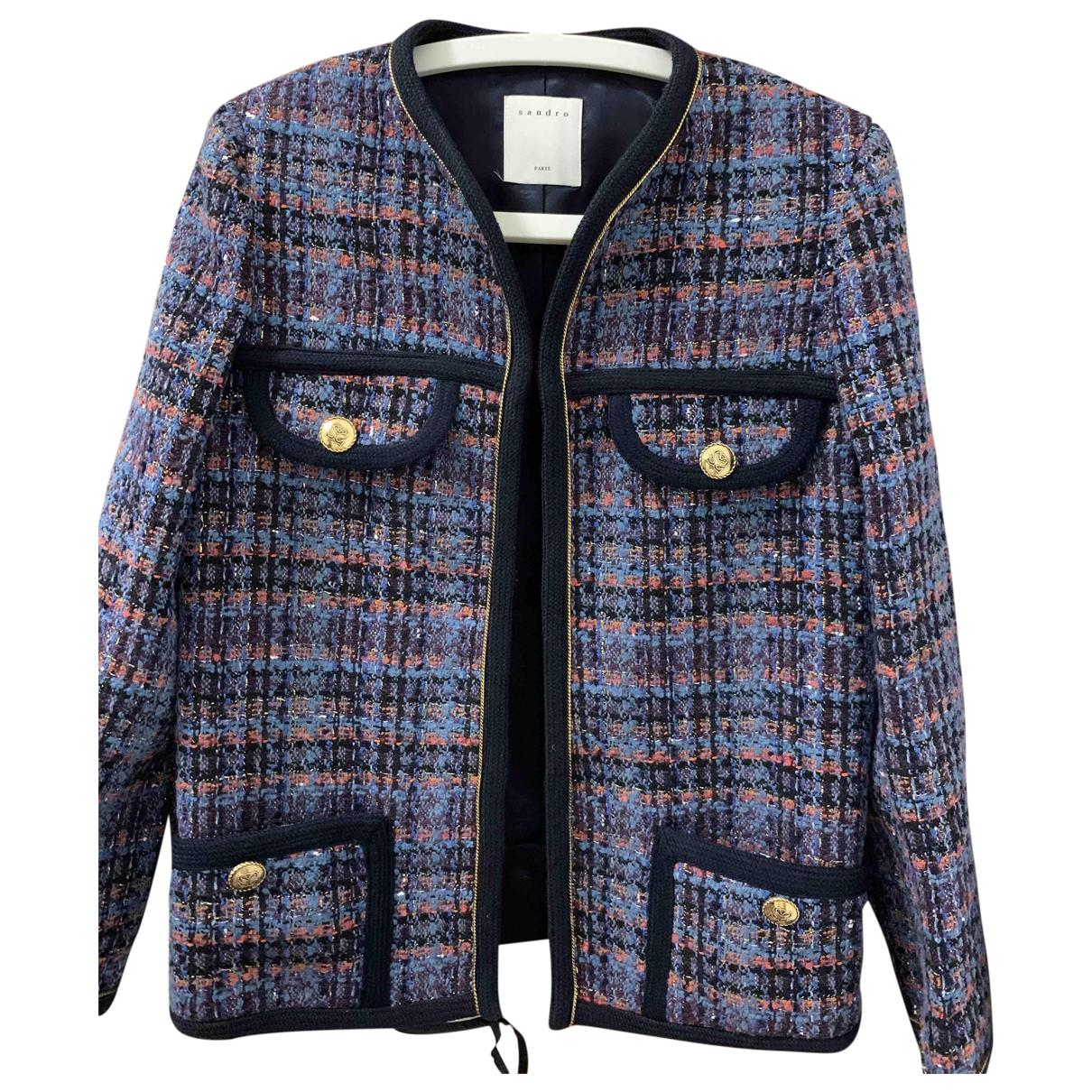 Sandro Fall Winter 2019 Multicolour Tweed jacket for Women 34 FR